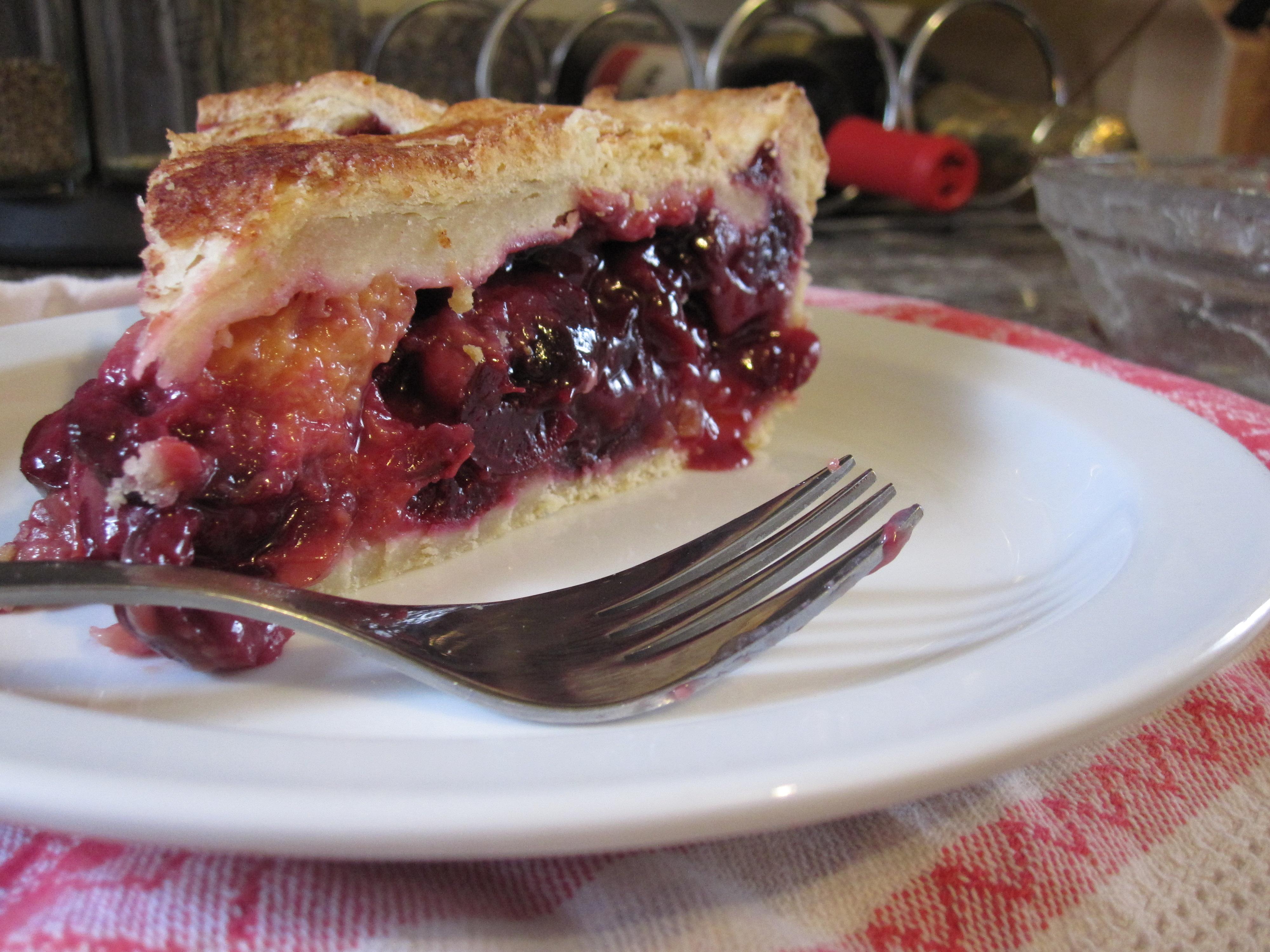 cherry peach pie (& a vegan version!) – love at first ...