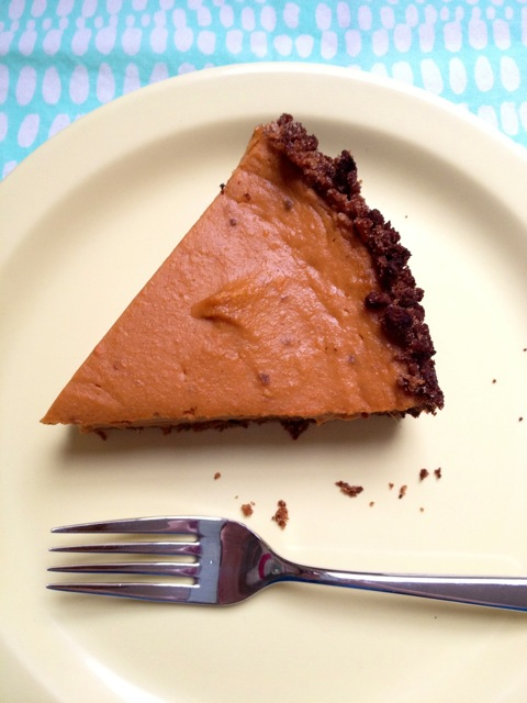 Slice of coconut sweet potato pie