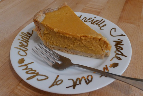 Silky pumpkin pie from scratch