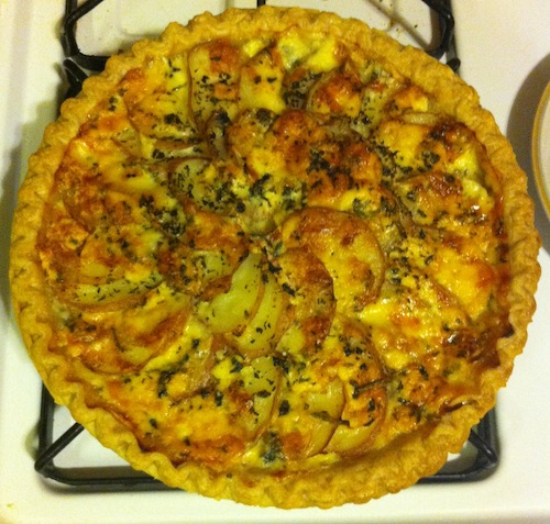 potato and blue cheese tart