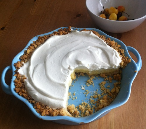 lime custard pie with saltine cracker crust