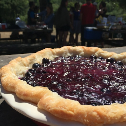 blueberry basil pie